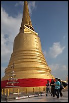 Chedi on top of Golden Mount. Bangkok, Thailand (color)