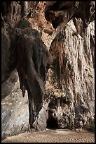 Rock climbers on limestone cliff, Railay. Krabi Province, Thailand (color)