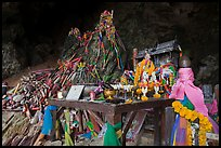 Pranang Cave shrine, Rai Leh. Krabi Province, Thailand (color)