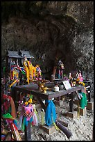 Tham Phra Nang (princess cave) shrine, Railay. Krabi Province, Thailand ( color)