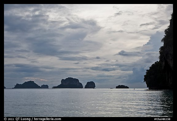 Offshore limestone islets, Railay. Krabi Province, Thailand (color)