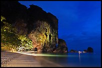Phra Nang beach at night. Krabi Province, Thailand ( color)