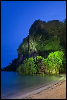 Railay East beach at night. Krabi Province, Thailand (color)