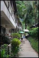 Resort on rainy day, Rai Leh East. Krabi Province, Thailand ( color)