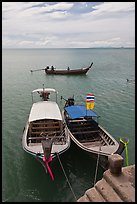 Boats and Adaman Sea, Ao Nammao. Krabi Province, Thailand (color)