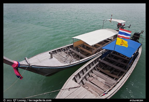Two boats, Ao Nammao. Krabi Province, Thailand (color)
