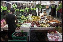 Fruit stall at night, Tonsai village, Ko Phi Phi. Krabi Province, Thailand (color)