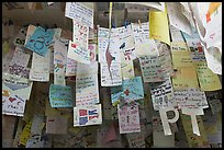 Notes left by customers from all around the world, Ko Phi-Phi island. Krabi Province, Thailand ( color)