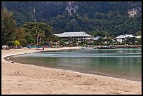Deserted beach and resorts, Ao Lo Dalam, Ko Phi Phi. Krabi Province, Thailand ( color)