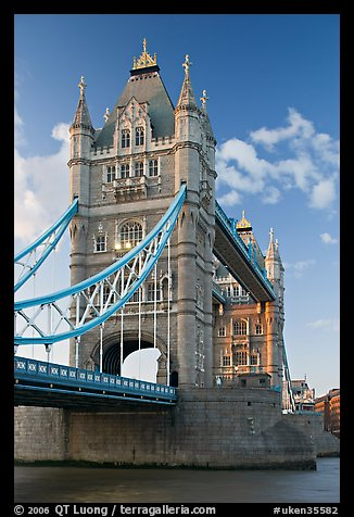 Tower Bridge from below. London, England, United Kingdom