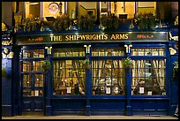 Pub The Shipwrights Arms at night. London, England, United Kingdom (color)