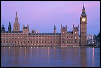 Palace of Westminster at dawn. London, England, United Kingdom ( color)