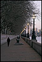 Riverfront promenade. London, England, United Kingdom (color)
