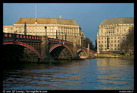 Lambeth Bridge. London, England, United Kingdom (color)