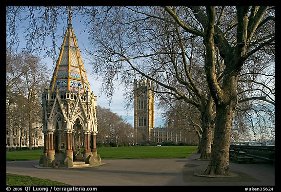 Buxton Memorial Fountain in the Victoria Tower Gardens. London, England, United Kingdom