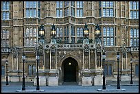 Gothic facade of Westminster Palace. London, England, United Kingdom (color)