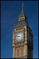 Big Ben, the clock tower of the Westminster Palace. London, England, United Kingdom ( color)