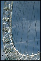 Detail of the Millennium Wheel. London, England, United Kingdom