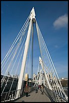 Golden Jubilee Bridge. London, England, United Kingdom