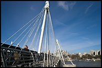 Golden Jubilee Bridge. London, England, United Kingdom (color)