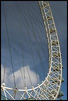 Detail of the London Eye. London, England, United Kingdom (color)