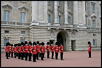 Household division guards during the changing of the Guard ceremonial. London, England, United Kingdom