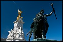 Statues in front of Buckingham Palace. London, England, United Kingdom ( color)