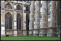 Buttresses and windows, Westminster Abbey. London, England, United Kingdom (color)