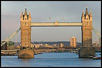 Tower Bridge, late afternoon. London, England, United Kingdom (color)
