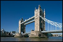Tower Bridge at river level, morning. London, England, United Kingdom ( color)