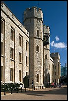 Towers and sentry, The Jewel House, part of the Waterloo Barracks, Tower of London. London, England, United Kingdom