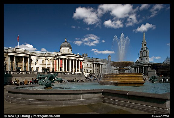 Trafalgar Square. London, England, United Kingdom
