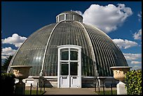 Entrance to the Palm House. Kew Royal Botanical Gardens,  London, England, United Kingdom ( color)