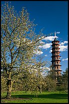 Great Pagoda by William Chambers. Kew Royal Botanical Gardens,  London, England, United Kingdom ( color)