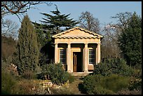 King William's temple, late afternoon. Kew Royal Botanical Gardens,  London, England, United Kingdom ( color)
