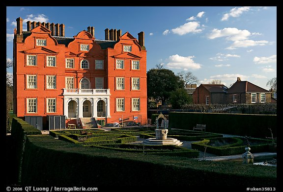 Kew Palace, late afternoon. Kew Royal Botanical Gardens,  London, England, United Kingdom (color)