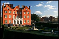 Kew Palace, late afternoon. Kew Royal Botanical Gardens,  London, England, United Kingdom