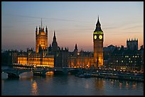 Westminster Palace at sunset. London, England, United Kingdom ( color)