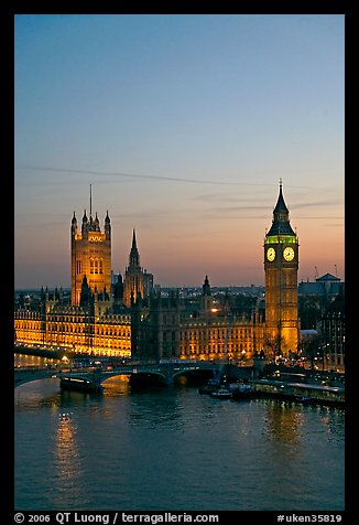 Houses of Parliament at sunset. London, England, United Kingdom (color)