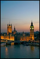 Houses of Parliament at sunset. London, England, United Kingdom ( color)
