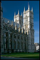 Westminster Abbey from the side, morning. London, England, United Kingdom (color)