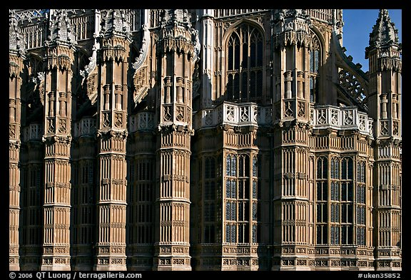 Architectural detail, Westminster Abbey. London, England, United Kingdom (color)