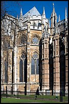 Westminster Abbey, rear view. London, England, United Kingdom ( color)