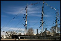Cutty Sark in her dry dock. Greenwich, London, England, United Kingdom (color)