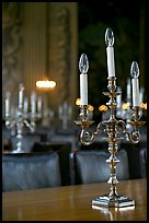Chandeliers in the Painted Hall of Old Royal Naval College. Greenwich, London, England, United Kingdom (color)
