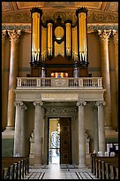 Organ in the chapel, Old Royal Naval College. Greenwich, London, England, United Kingdom