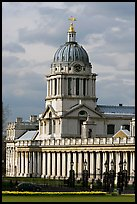 Dome of the Old Royal Naval College. Greenwich, London, England, United Kingdom