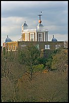 Flamsteed House with the Red Time Ball. Greenwich, London, England, United Kingdom ( color)