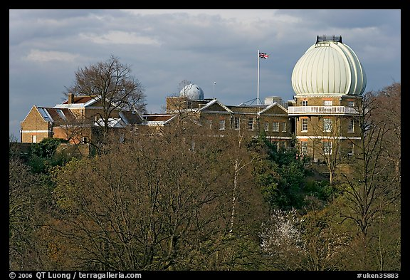 Royal Observatory,  the first purpose-built scientific research facility in Britain. Greenwich, London, England, United Kingdom (color)