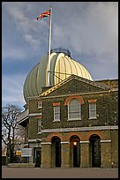 Royal Greenwich Observatory, late afternoon. Greenwich, London, England, United Kingdom (color)